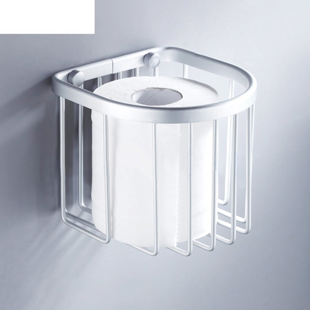 Bathroom toilet paper holder/Toilet tray/Space aluminum paper towel basket/[Multifunctional towel rack]/Toilet tissue paper basket-A