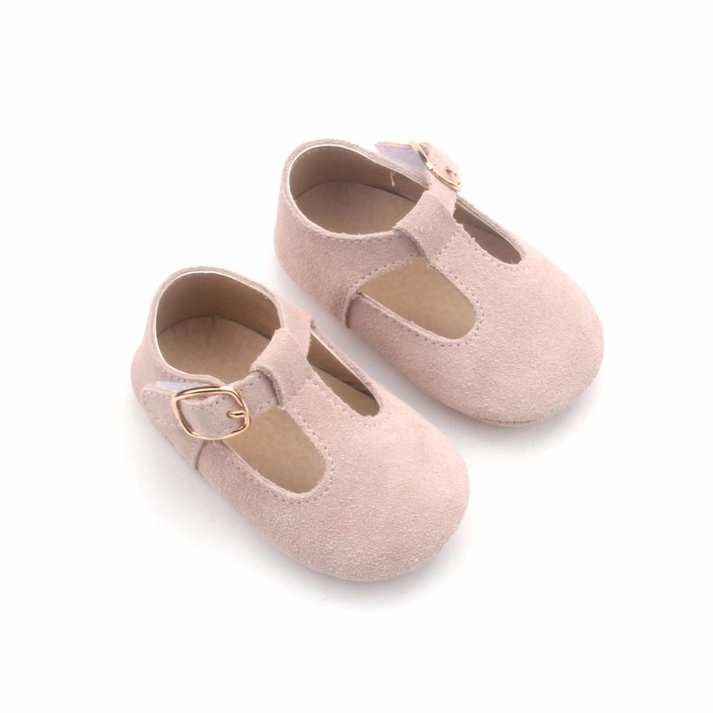 Cheap Wholesale Kids Genuine Leather Baby Mary Jane Beauty girls baby winter suede moccasin boots shoes 2018