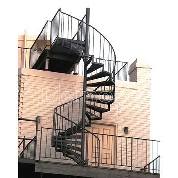 Exterior de metal escalera espiral dise o seguridad - Escalera en espiral ...