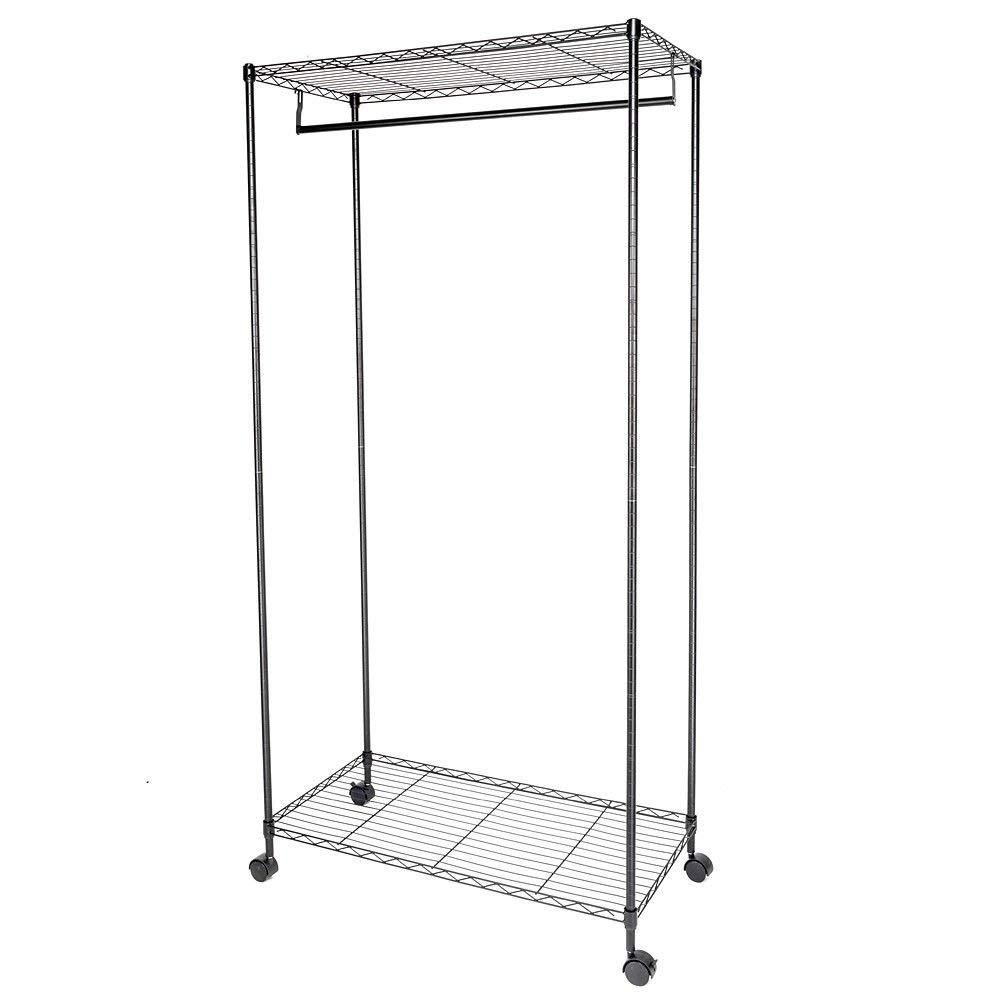 Get Quotations · NUMBERNINE Closet System Storage Organizer Garment Rack  Clothes Hanger Dry Shelf Heavy Duty,closet Hanger