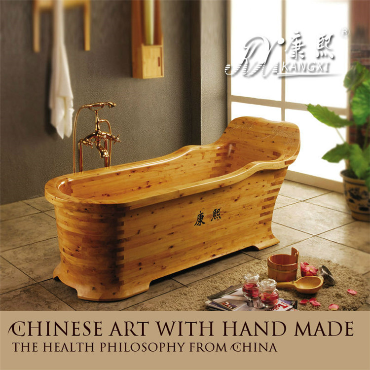 Home Furniture Bathtub With Seat Portable Wooden Bathtub Massage Tub ...