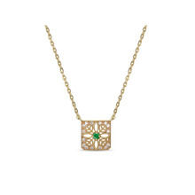 N004445 High Quality 925 Silver Pendant Natural Emerald Ruby Necklace for Women Diamond inlaid