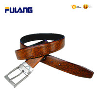 high quality reversible leather belts with removable buckles FUB017