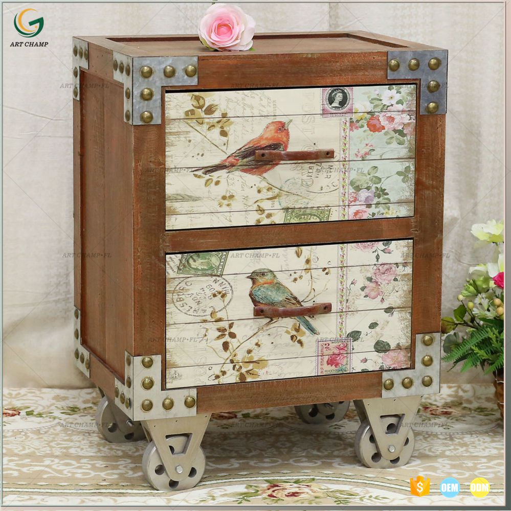 Vintage Shabby Chic Furniture Mini Wood Chest Of Drawers - Buy