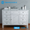Homedee antique white cheap single bathroom vanity cabinet