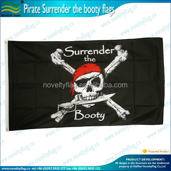 Custom flying polyester pirate flags