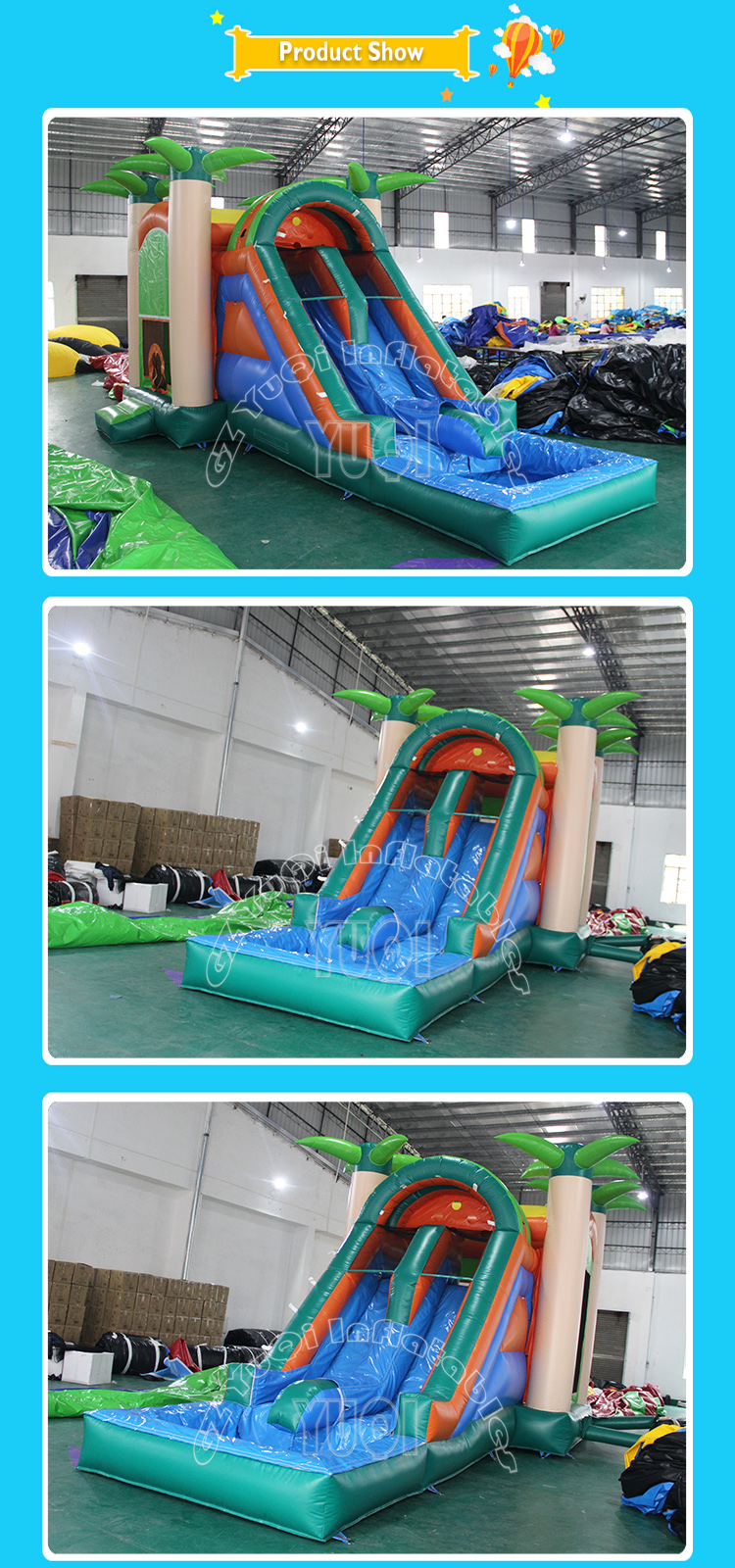 Outdoor Jumping Bounce House Giant Inflatable Water Slide ...