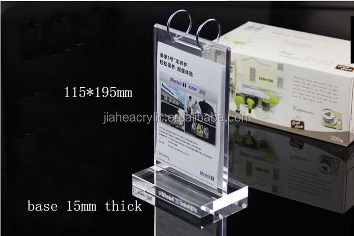 T Shape Magnet Plxiglass Business Tent Card Display