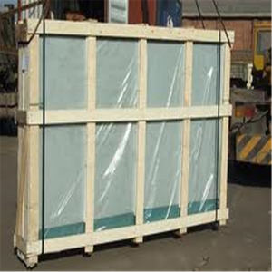 Big wholesale clear float glass with wooden case packaging