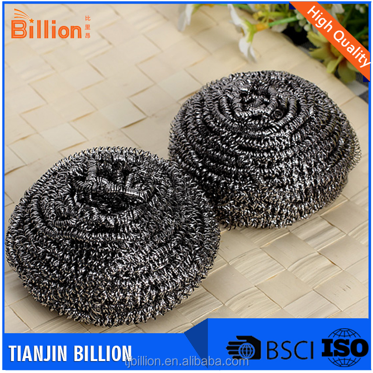 Manufacturer high quality kitchen cleaning stainless steel scourer/sponge/cleaning ball