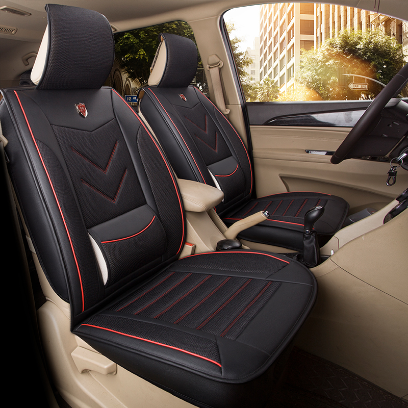 ZT-B-053 car seat cover shop air mesh 7 seat bench covers
