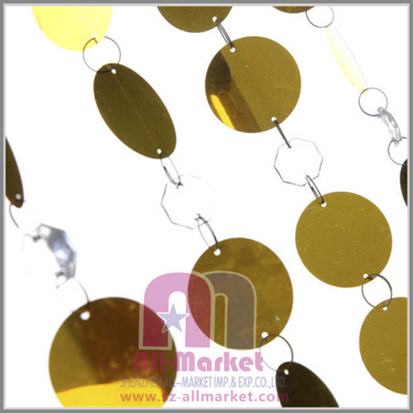 Wedding decor Gold plate PVC bead curtains AM165B