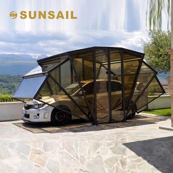 Good Sunsail Solar Energy Folding Portable Motorized Car Garage
