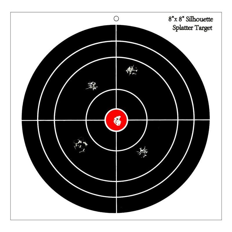 Éclaboussures 50pcs haute visibilité cible de tir autocollant