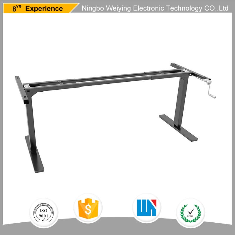 New style manual height adjustable standing office furniture computer desk frame