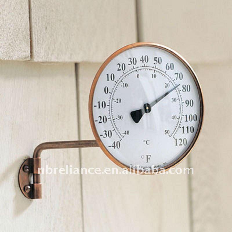 4 laiton ext rieure dail thermom tre thermom tre de - Grand thermometre de jardin ...