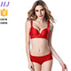 Made in China hot lovely girl sexy red bra panty set