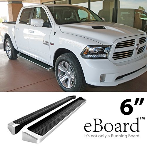 Get Quotations Eboard Running Boards Aluminum 6 For 2009 2016 Dodge Ram 1500 Crew Cab 2010