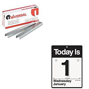 KITAAGK100UNV79000 - Value Kit - At-a-Glance Recycled amp;quot; Today Isamp;quot; Wall Calendar (AAGK100) and Universal Standard Chisel Point 210 Strip Count Staples (UNV79000)