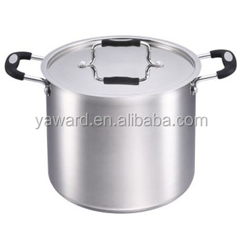 New Designed Stainless Steel Stock Pot Two Handle Saucepan