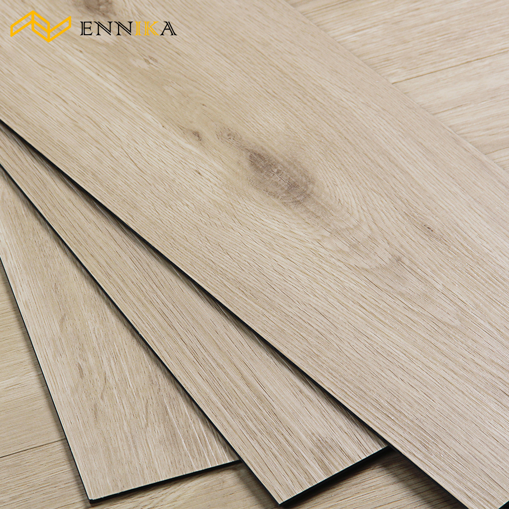 Teak Wood Pattern Vinyl Laminated PVC Floor Plank
