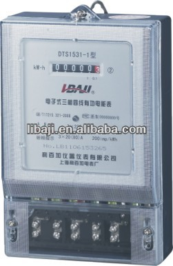 Three Phase Electric Watt-hour Electricity AC Static Type Ampere Energy meter OEM Provide