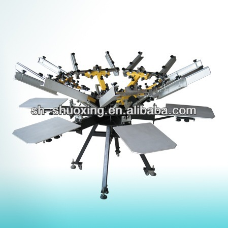 New arrival precision 6 colors t-shirt screen printing machine