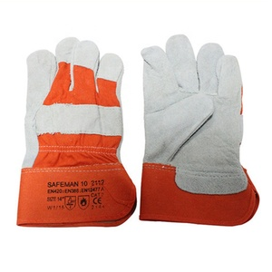 flip fur AB class labor protection gloves welder handling high temperature manufacturers 2112 electric welding gloves double