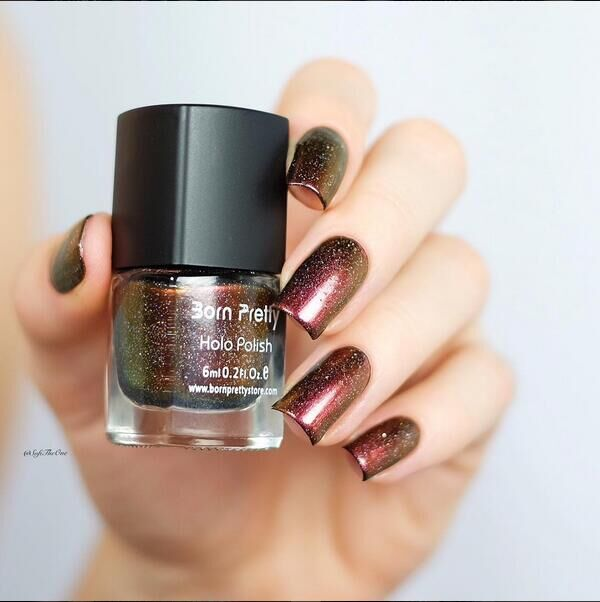 HOT 1pc 6ml Born Pretty Chameleon Nail Polish Good Quality Varnish Nail Poliah 32 Black Base