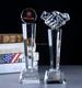 Hot sales cheap price crystal glass hand trophyies award/crystal fist trophies