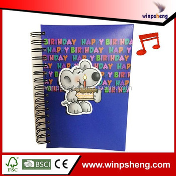 Promotional Gift Items Music Function Notebook
