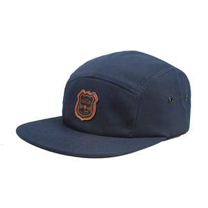 e8bf9349fa0 Custom 5 Five Panel Camp Cap Hats Leather Patch Logo Funny Caps And Hats  For Boys