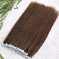 Factory wholesale blue glue 16 - 30 inch 2.5 gram invisible Tape In Human Hair Extensions Straight 17 Colors 20pcs pacakage