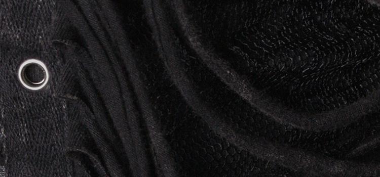 Y-389 Gothic Washed Water Kimono Stylish Long Western Coat