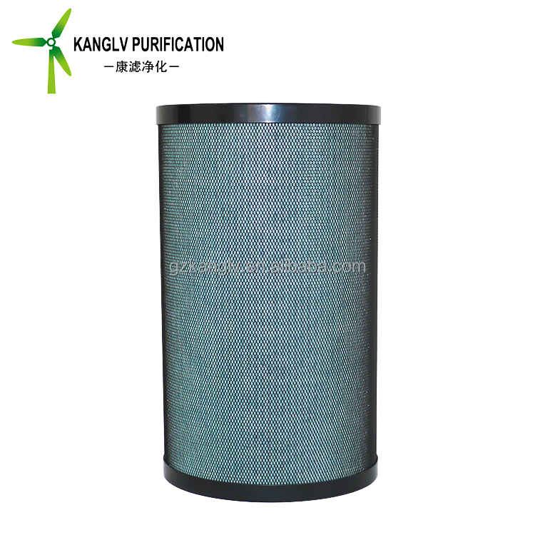 Green products air filter, pleated cylinder air hepa filter with mesh
