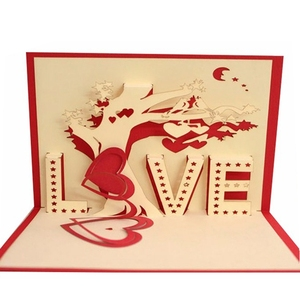China suppliers custom 3d pop up greeting cards