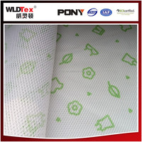 Cute Green Pattern Nonwoven Mesh Fabric For Tent