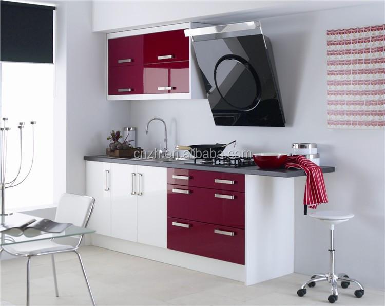 Usine directe haute brillant acrylique armoires de cuisine for Cuisine acrylique