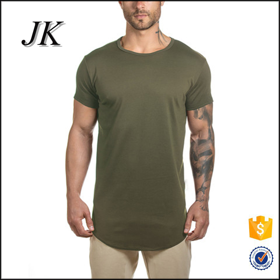 Mens Custom Design T Shirt Plain No Brand T Shirt Long Line T Shirt