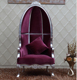 OE-FASHION Royal solid wood carving princess pedicure throne chair for wedding