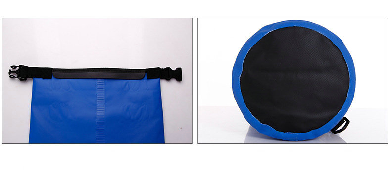 Yiwu manufacturer custom logo PVC tarpaulin dry bag with strap for outdoor