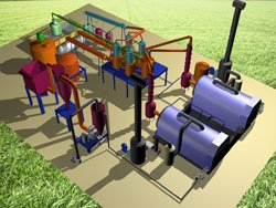 Top Technology: waste tires Pyrolysis plant
