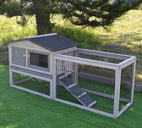 Waterproof wooden rabbit hutch chicken coop outdoor guinea pig cage with run house