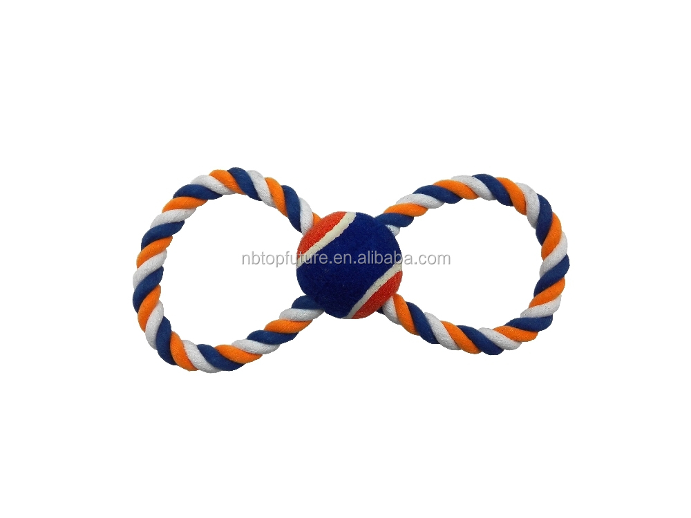 """8"" shape crossed pet rope toy,The dog toy ball"