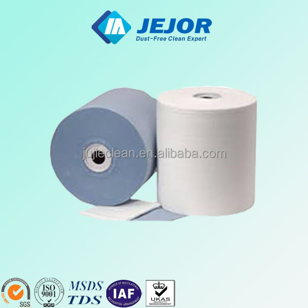 Large Size Design With Paper Shelf Cleanroom Industrial Wipes Roll