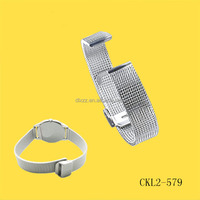 12mm Reticular Stainless steel Watch band manual Weave Watch strap CK Watch band Manufacturer