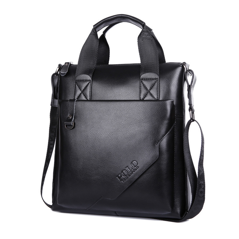 Get Quotations · New Fashion vintage Genuine leather briefcase Brand men  handbags Business Shoulder Bags high Quality laptop briefcase ff48eaa951065