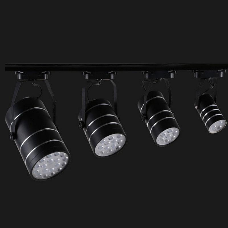 Led Track Lighting Rail With 18w Led Spotlight ขายส่ง