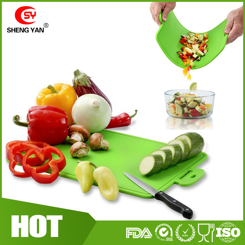 7mm Thickness Silicone Cutting Board Durable Nonslip Heat Resistant silicone Color Chopping Board