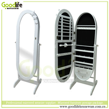 Oval shape mirror jewelry cabient vanity mirrors bedroom furniture set from goodlife